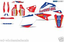 Graphic Kit Honda XR 250 Decal Wrap w/Backgrounds/Rim Stickers XR250 SM 06-07 XX
