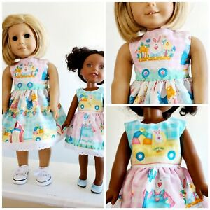 Easter Bunny Dress fits American Girl And/orWellie Wishers Doll Clothes