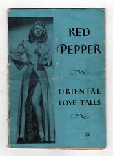 SCARCE 1940s RED PEPPER Oriental Love Tales EROTIC Lao Krishna ASIAN Pulp