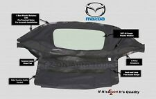 EZ ON MAZDA MIATA 1990-2005 Convertible Soft Top & Plastic Window Black Cabrio