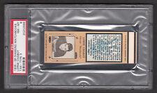 Lorne Chabot 1935-36 Diamond Match Tan Hockey Matchbook PSA 8 NM-MT 1/1