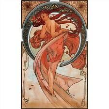 Handcrafted Alphonse Mucha Art Nouveau DANCE greeting card nota LIBRO FOTOGRAFIA