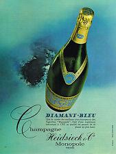 PUBLICITE  1969   HEIDSIECK & CO  champagne DIAMANT BLEU