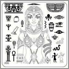 MoYou Nail Fashion Stamping Nail Art Image Plate 496 Egypt Style Pharaohs