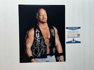 Stone Cold Steve Austin Rare! signed autographed WWE 8x10 photo Beckett BAS Coa