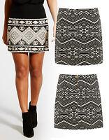 NEW Jacquard Aztec Mini Skirt Womens Waist A-Line skirt Size 8 10 12