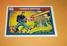 Nick Fury vs Hydra #107 1990 Marvel Universe Series 1 Base Impel Trading Card