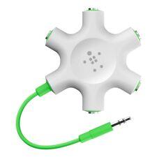 Belkin Rockstar Aux Cable 5-Way Splitter for Headphone White/Green