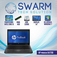 PORTATILE NOTEBOOK HP 6470b INTEL CORE i5-3320 2.6Ghz 4GB RAM 320GB HDD
