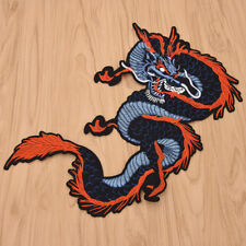 Embroidery Chinese Dragon Iron on Patch Clothes Bag Jeans Applique DIY Craft