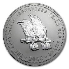 2006 Australia 1 kilo Silver Kookaburra BU - SKU #11422