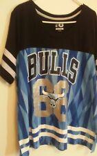 Women's Chicago Bulls BLUE Jersey/Shirt Size 2XL (XXL) Bedazzled Numbers #66 NBA