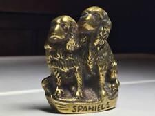 Vintage Brass Spaniels Dog Figurine