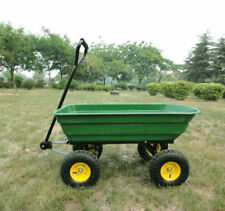 Outdoor Garden Trolley Cart Heavy Duty Dump Truck 75L 4 Wheel Wheelbarrow Tipper