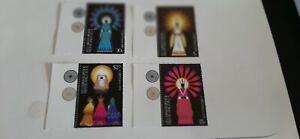 St. Christopher Nevis 1978 Christmas Stamps Un. Mint Marginal copies.