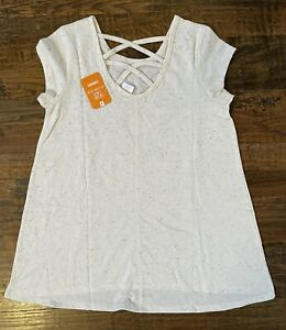 NEW Gymboree Girl's Kid T-Shirt Top Cross Back Large L 10-12 years yrs - NWT