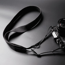 Real leather + Thick Braided cotton camera strap for DSLR Mirrorless Film Camera