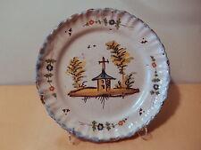 Assiette faience Meillonnas Roanne Bourg église croix XVIII XIX 18 19 siecle