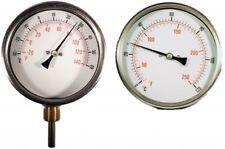 B18-00034 - Cewal® 100mm HVAC Temperature Gauge - Connection Back x Stem