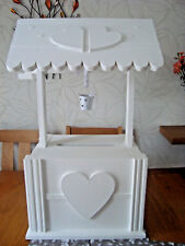 Solid Wooden Wedding wishing well post box 4 sale with bucket free post in uk