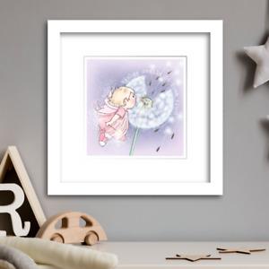 FAIRY WISH  Nursery wall art  Limited Edition Print by Illustrator Rachel Mabin