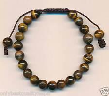 Elegantes Armband Tigeraugen Perlenband Damenschmuck Armschmuck Nepal 8c