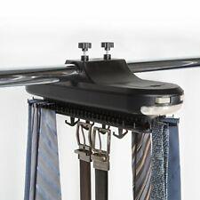 Revolving Organizer Tie Belt Necktie 64 pc Hanger Closet Mounted Rack Holder New