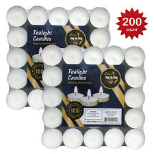 Tealight Candles White unscented Burn's Aprx 3 Hr. In Bulk For Wedding, Partys,