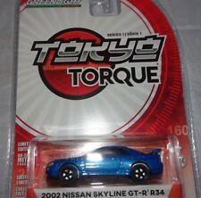 Artículos de automodelismo y aeromodelismo color principal azul Nissan de escala 1:64