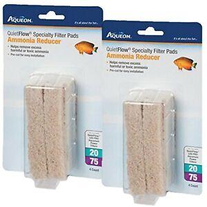 Aqueon Cartridge Ammonia Minipad Quiet Flow 20/75 (2 PACKS)