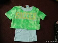 justice --  girls size 5---2fer top-- SOCCER-- nwt