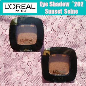 2 L'Oreal Eye Shadow #202 Sunset Seine .12 oz. Each - NEW & Sealed  Loreal