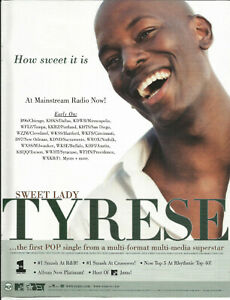 TYRESE Ultra Rare Sweet Lady VINTAGE PROMO TRADE AD Poster for 1999 CD MINT USA