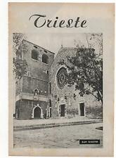 Pubblicità vintage TRIESTE S.GIUSTO ITALY advertising reklame werbung publicitè