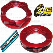 Apico Red Headstock Steering Stem Nut For Honda CRF 450R 2002-2017 Motocross