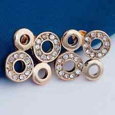 Earrings 9ct Gold Diamond Circles Large Studs Great Gift LAST PAIR