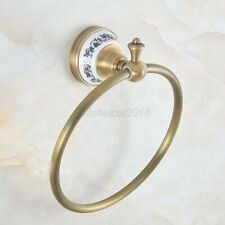 Wall Mounted Antique Brass Bathroom Towel Ring Round Towel Holder lba775