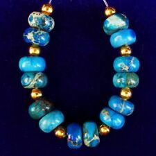 Jasper Rondelle Pendant Bead M64228 14Pcs/set 8x5mm Blue Sea Sediment