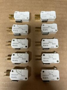 (10 Count) Cherry Micro Switches KWK Series 10A ½ HP 125/250 VAC