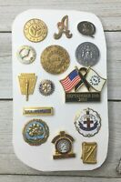 Assorted Lot Of Vintage Collectible Pins Button Lapel Tie Accessories