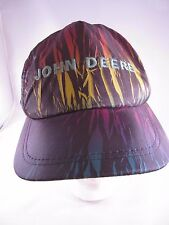 Vtg John Deere Hat Cap Snapback Black Neon USA Made Tractors Farm Agriculture