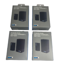 Lot of 4 - GoPro Fusion Battery Dual Battery Charger + Battery Black ASDBC-001