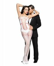 New Music Legs 1025 Teddy With Striped Thigh Highs Bodystocking