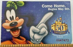 Disneyland Club 33 1-Day Hopper Ticket USED 1/23/2005 Goofy 50th Anniversary