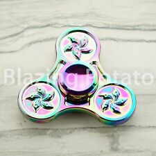 RAINBOW Hand Spinner Tri Spinners Figet Desk Toy Focus EDC ADHD -NEW- ☆USA☆ #G