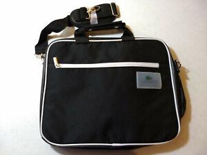 NEW Lacoste Parfums Black Full SIZE Laptop Bag Shoulder Strap Multi-Pocket