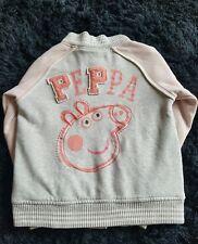 NEXT Girls Pale Pink Grey PEPPA PIG Bomber Jacket Age 5/6 years