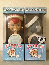 FUNKO SPEEDY ALKA SELTZER SET OF 2 WACKY WOBBLER BOBBLE HEAD NEW *DENTED BOXES*