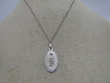 "Vintage Sterling Initial K Pendant, Diamond  Chip, 18"",  Lamode, 1960's"