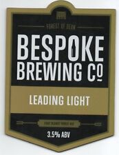 Beer pump clip fronts, Bespoke Brewing Co. LEADING LIGHT